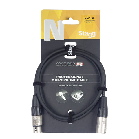 Stagg NMC3R Professional Microphone Cable (Balanced) 3m