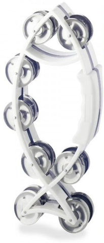 Stagg Fish Tambourine, White