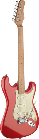 Stagg SES50M Electric Guitar, Fiesta Red