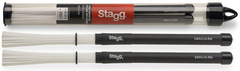 Stagg Nylon Brushes Rubber Handle