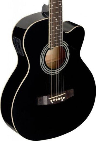 Stagg SA20ACE Electro Acoustic Guitar, Black