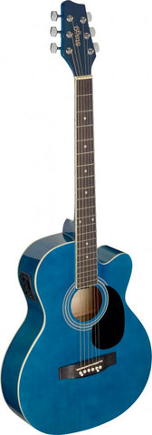Stagg SA20ACE Electro Acoustic Guitar, Blue