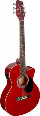 Stagg SA20ACE Electro Acoustic Guitar, Red