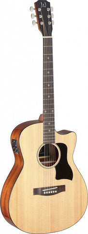 James Neligan BES-ACE Electro Acoustic Guitar, Natural - front