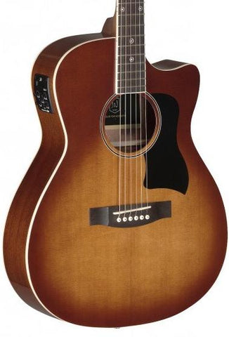 James Neligan BES-ACE Electro Acoustic Guitar, Dark Cherryburst - body