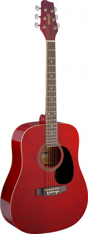 Stagg SA20D Acoustic Guitar, Red