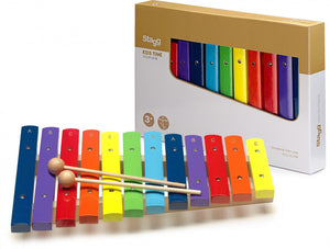Stagg Xylophone 12 Coloured Keys