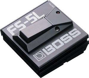 BOSS FS-5L Durable Metal Footswitch, Latched
