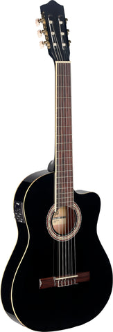 Stagg C546TCE Electro Classical Guitar, Black