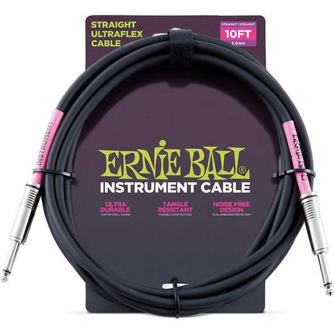 Ernie Ball 6048 Instrument Cable 10ft Black
