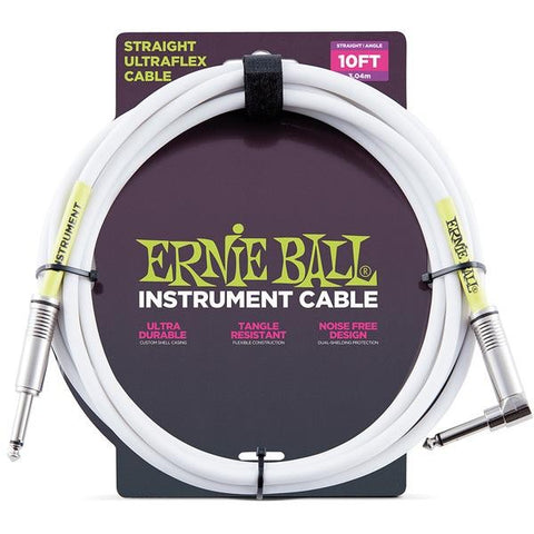Ernie Ball 6049 Instrument Cable 10ft White