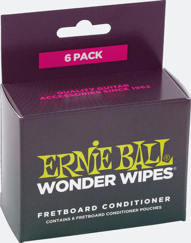 Ernie Ball 4276 Fretboard Conditioner Wonder Wipes