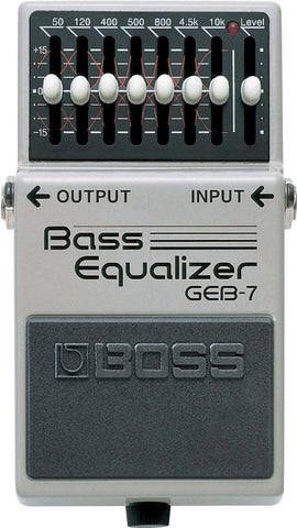BOSS GEB7, 7 Band Equaliser Pedal -  - ROSE MORRIS - Bass Guitar FX