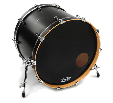 Evans EQ3 Resonant Black Bass Drum Head, 22 Inch -  - ROSE MORRIS - Drum Heads