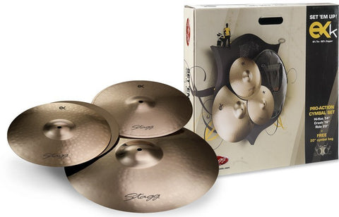 Stagg EXK B8 Bronze Cymbal Starter Set -  - ROSE MORRIS - Box Sets