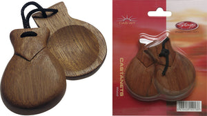 Stagg Castanets Without Handle -  - ROSE MORRIS - Claves & Castenets
