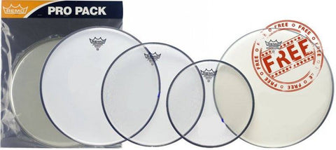 Remo Clear Emperor Rock Pro Pack -  - ROSE MORRIS - Drum Heads