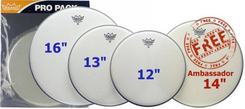 Remo Coated Emperor Rock Pro Pack -  - ROSE MORRIS - Drum Heads