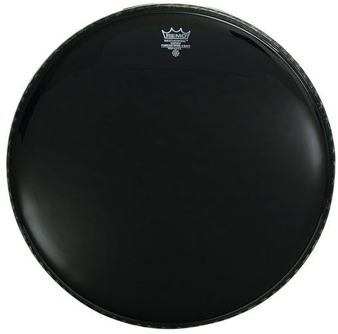 Remo Ebony Powerstroke 3 Bass Head, 22'' -  - ROSE MORRIS - Drum Heads