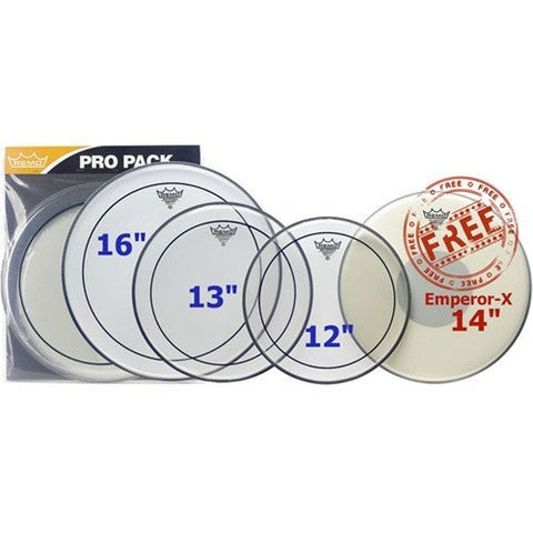 Remo Pinstripe Rock Pro Pack -  - ROSE MORRIS - Drum Heads