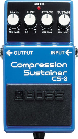 BOSS CS3 Compressor/Sustainer Pedal -  - ROSE MORRIS - Electric Guitar FX