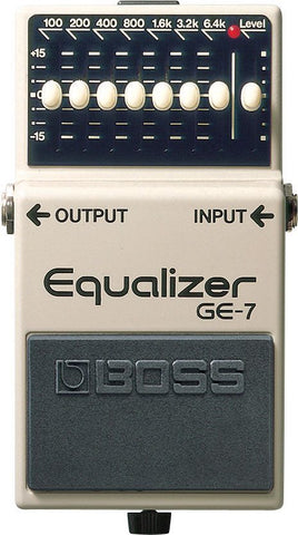 BOSS GE7, 7 Band Equaliser Pedal -  - ROSE MORRIS - Electric Guitar FX