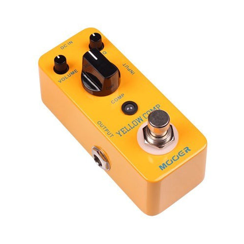 Mooer MCS2 Yellow Comp Optical Compressor Pedal -  - ROSE MORRIS - Electric Guitar FX