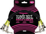 Ernie Ball 6075 Angled Patch Cable 3 Pack 1' White
