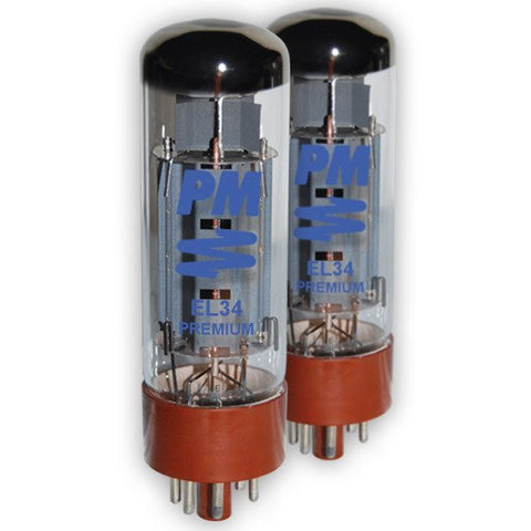 PM Guitar Tubes EL34 PREMIUM  Power Tube - Boxed as a Pair (2) -  - ROSE MORRIS - Guitar Amp Tubes