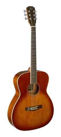 James Neligan BES-A Acoustic Guitar, Dark Cherry Burst