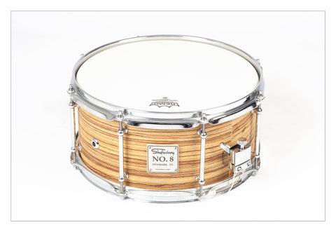 Shaftesbury No.8 Zebrano Birch Snare 13*6.5 -  - ROSE MORRIS - Snare Drums