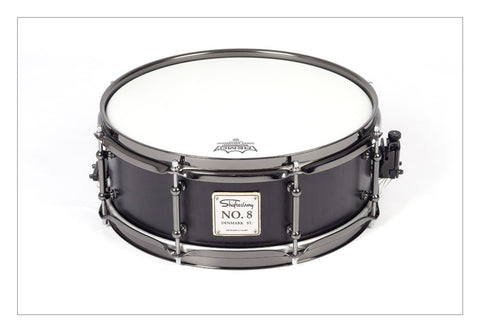 Shaftesbury No.8 Birch Snare, Solid Black 13*5 -  - ROSE MORRIS - Snare Drums