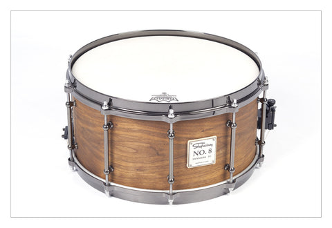 Shaftesbury No.8 Walnut Birch Snare, Natural Finish 14*7 -  - ROSE MORRIS - Snare Drums
