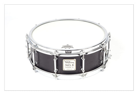 Shaftesbury No.8 Kevazingo Birch Snare, Matt Black 14*5 -  - ROSE MORRIS - Snare Drums