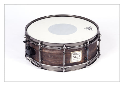 Shaftesbury No.8 Zebrano Birch Snare, Stained Black 14*5 -  - ROSE MORRIS - Snare Drums