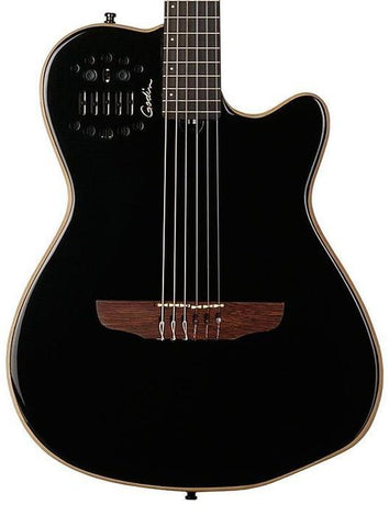 Godin ACS Slim HG Synth Access Electro Acoustic Guitar, Black Pearl