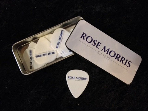 Rose Morris Logo Pick Tin with 12 Dunlop Picks -  - ROSE MORRIS - Picks
