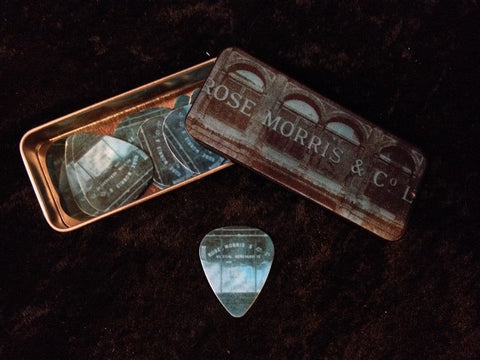Rose Morris Original Building Pick Tin with 12 Dunlop Picks -  - ROSE MORRIS - Picks