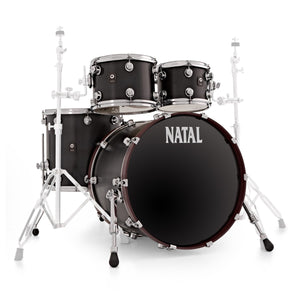 Natal Cafe Racer UF22 Drum Kit Matte Black DISPLAY MODEL