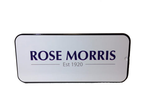 Rose Morris Pick Tin, Logo