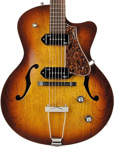Godin 5th Avenue P90 Cutaway, Cognac Burst -  - ROSE MORRIS - Semi Acoustic Electric Guitars - 1