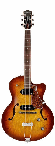 Godin 5th Avenue P90 Cutaway, Cognac Burst -  - ROSE MORRIS - Semi Acoustic Electric Guitars - 2