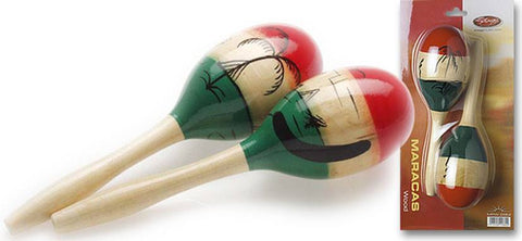 Stagg Wooden Mexican Style Oval Maracas, 26cm -  - ROSE MORRIS - Shakers