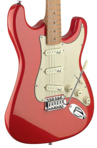 Stagg SES50M Electric Guitar, Fiesta Red -  - ROSE MORRIS - Solid Body Electric Guitars - 2