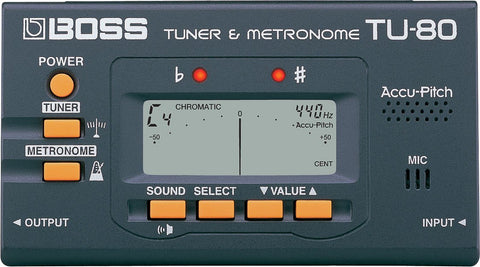 BOSS TU-80 Tuner and Metronome -  - ROSE MORRIS - Tuners & Metronomes