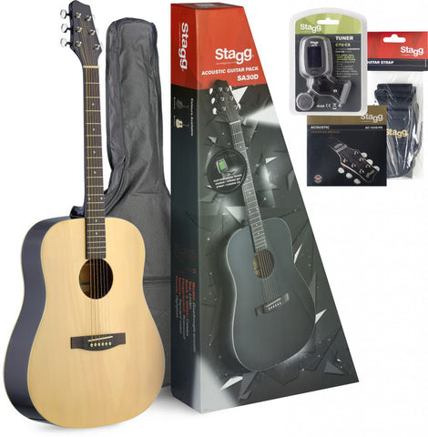 Stagg SA30 Dreadnought Acoustic Guitar Pack -  - ROSE MORRIS - Acoustic Guitars