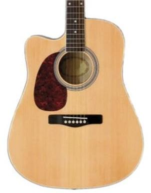 Woodstock Left Handed Dreadnought Electro Acoustic Guitar