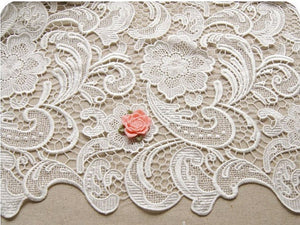 Chic guipure lace fabric|Crocheted lace|Venise lace on sale