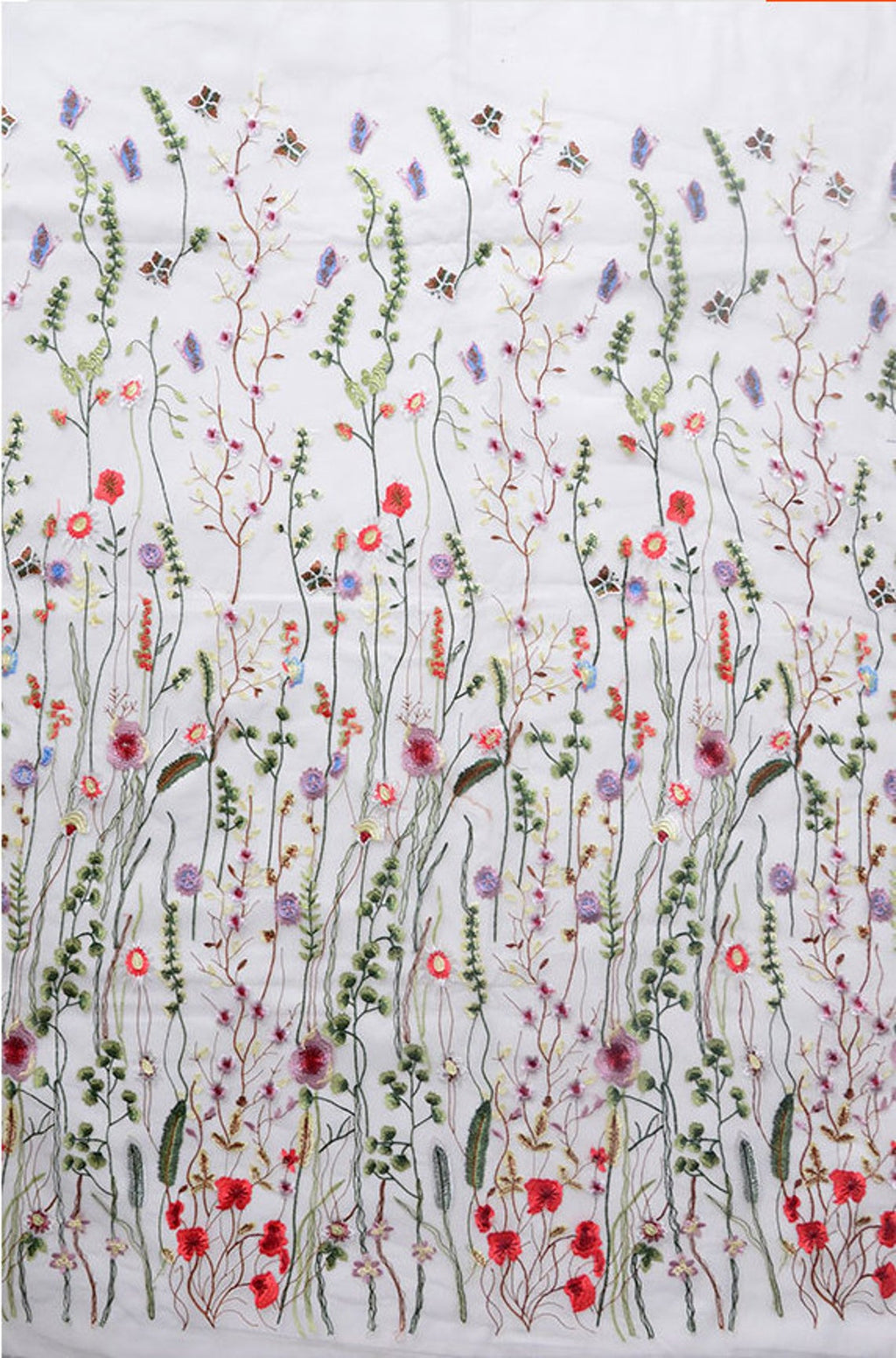 Color flowers| Heavy embroidered| deluxe embroidery mesh lace fabric