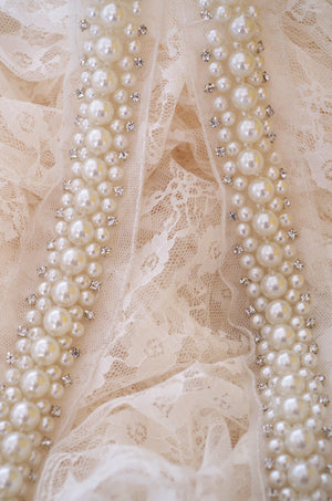 pearl bead sash trim with rhinestones, rhinestone and pearl bead trimming on sale hot selling